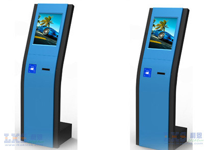 Floor Standing Self Service Banking Kiosk Machine With Rfid Card Reader