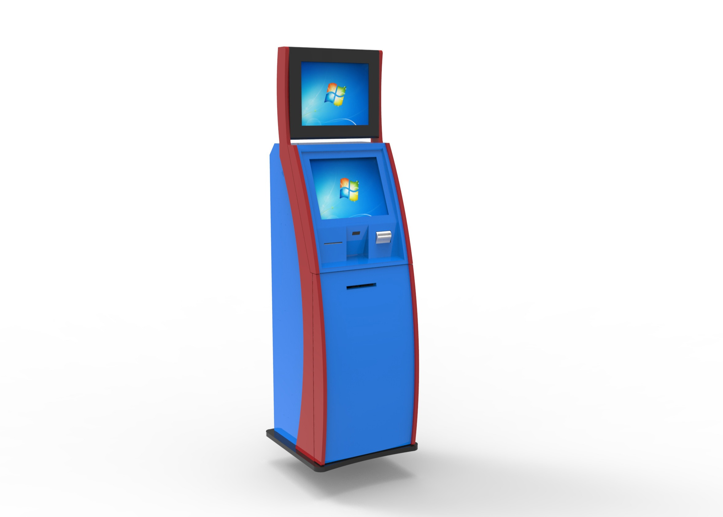 Lobby Computer Self Service Card Dispenser Kiosk With RS232 Interface , 50Hz to 60Hz